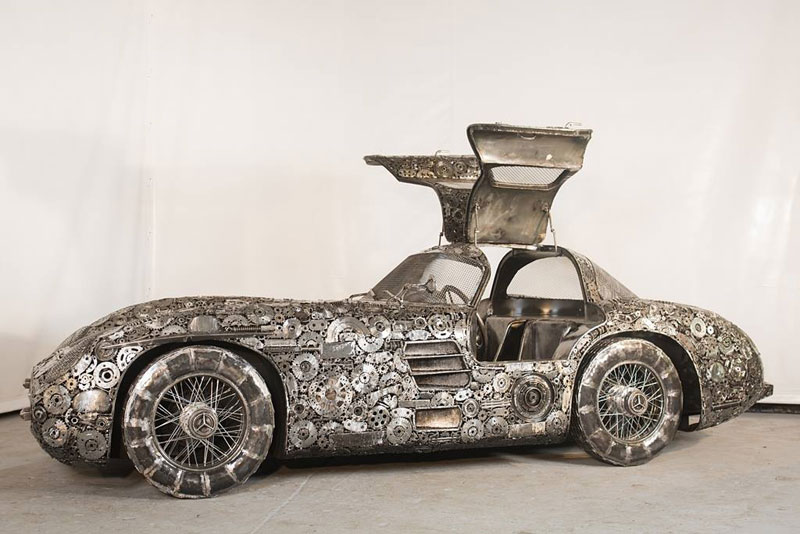 scrap metal supercars gallery of steel figures pruszkow poland 3 Scrap Metal Supercars (12 Photos)
