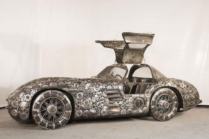 scrap metal supercars gallery of steel figures pruszkow poland 3 Scrap Metal Supercars (12 Photos)