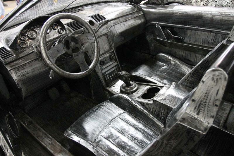 scrap metal supercars gallery of steel figures pruszkow poland 9 Scrap Metal Supercars (12 Photos)