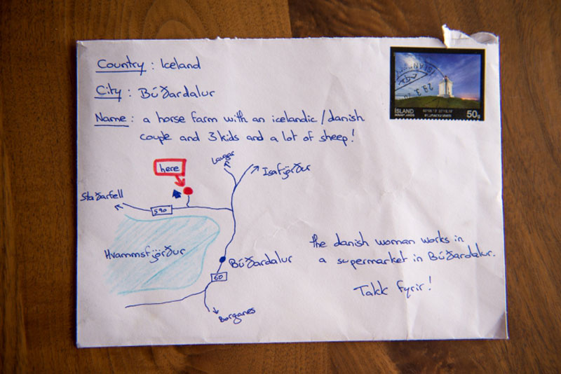Tourist S Thank You Card With Hand Drawn Map And No Address Gets