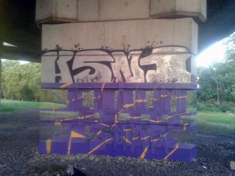 transparent graffiti illusion by milane ramsi 3 Transparent Graffiti Illusion by Milane Ramsi