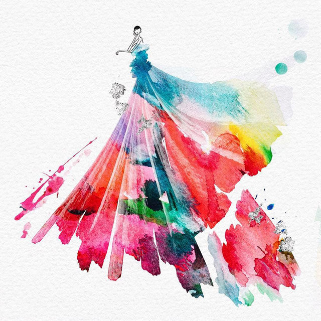 watercolor gowns by jaesuk kim instagram (1)