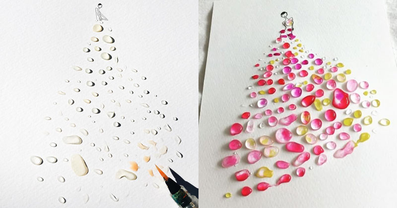 15 Beautiful Watercolor Gowns by Jaesuk Kim