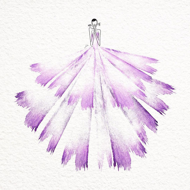 watercolor gowns by jaesuk kim instagram (2)