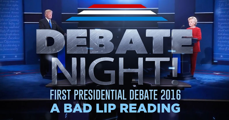 A Bad Lip Reading of the First Presidential Debate