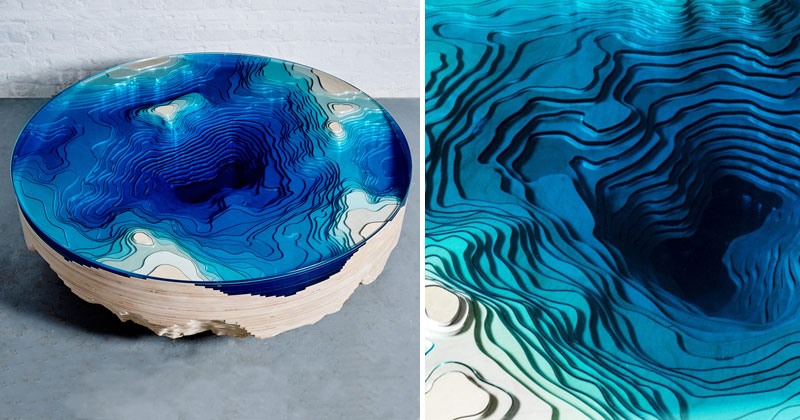 Abyss Horizon Coffee Table by Christopher Duffy