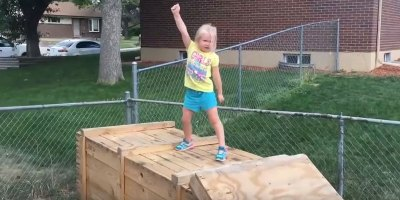 Dad Builds Backyard Ninja Warrior Course For His Daughter