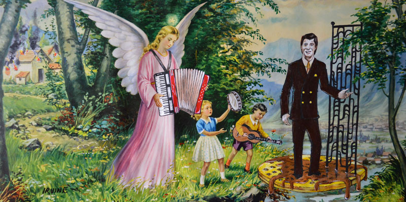 david irvine thrift store paintings 9 This Artist Adds Random Characters Into Discarded Thrift Store Paintings