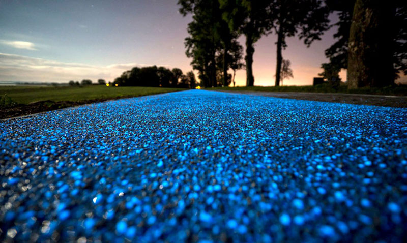glow in the dark solar powered bike lanes poland tpa 2 Solar Powered, Glow in the Dark Bike Lanes are Being Tested in Poland
