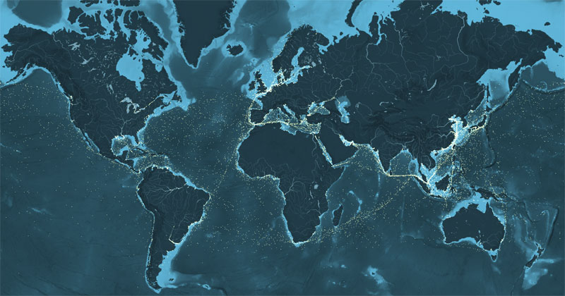 An Interactive Map of Every Cargo Ship in the World in2012