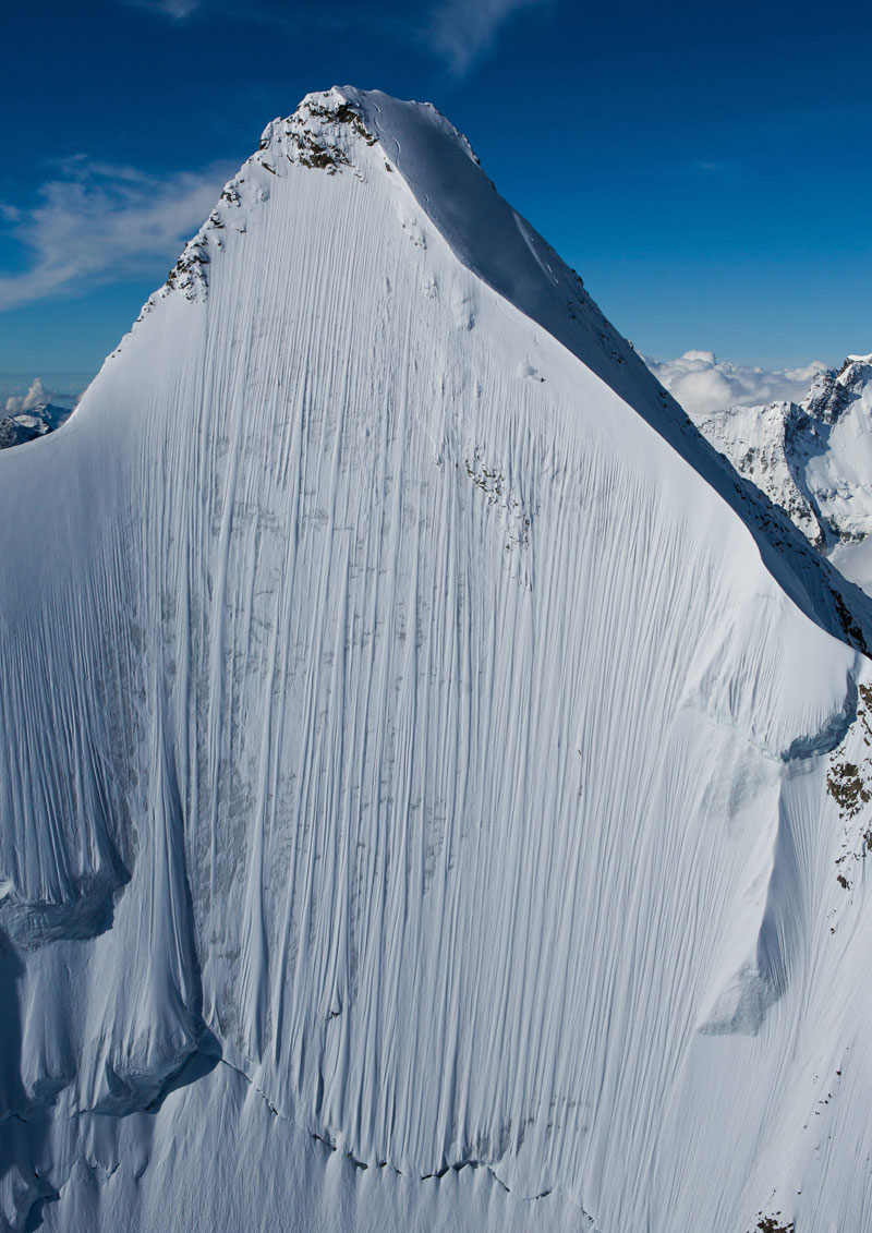 jeremie heitz pennine alps switzerland tero repo redbull steep descent Picture of the Day: If You Look Closely Theres a Skier