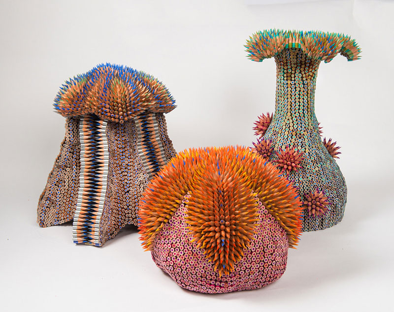 pencil sculptures by jennifer maestre 11 Jennifer Maestre Turns Ordinary Pencils Into Otherworldly Sculptures
