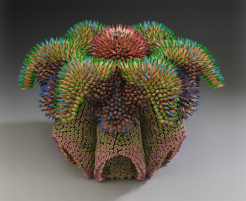 pencil sculptures by jennifer maestre 12 Jennifer Maestre Turns Ordinary Pencils Into Otherworldly Sculptures