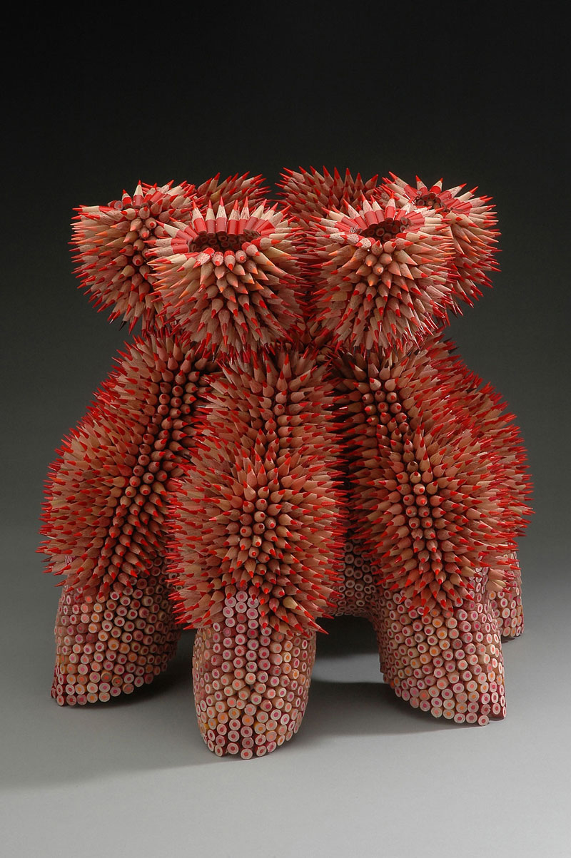 pencil sculptures by jennifer maestre 6 Jennifer Maestre Turns Ordinary Pencils Into Otherworldly Sculptures