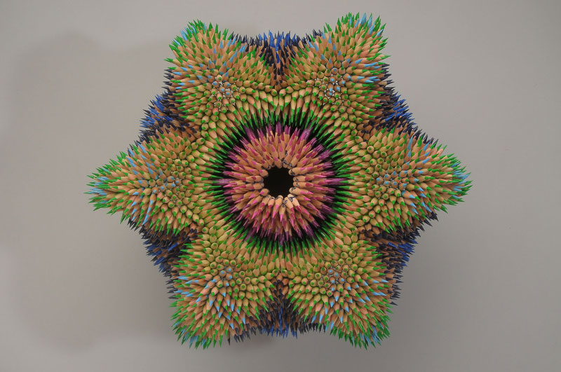 pencil sculptures by jennifer maestre 7 Jennifer Maestre Turns Ordinary Pencils Into Otherworldly Sculptures