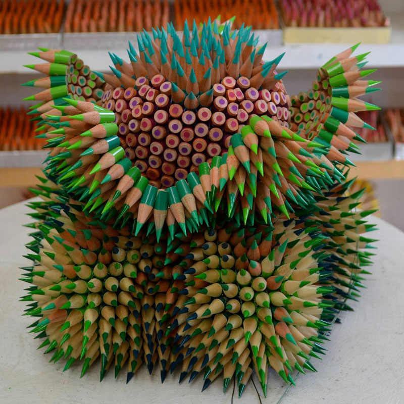 pencil sculptures by jennifer maestre 8 Jennifer Maestre Turns Ordinary Pencils Into Otherworldly Sculptures