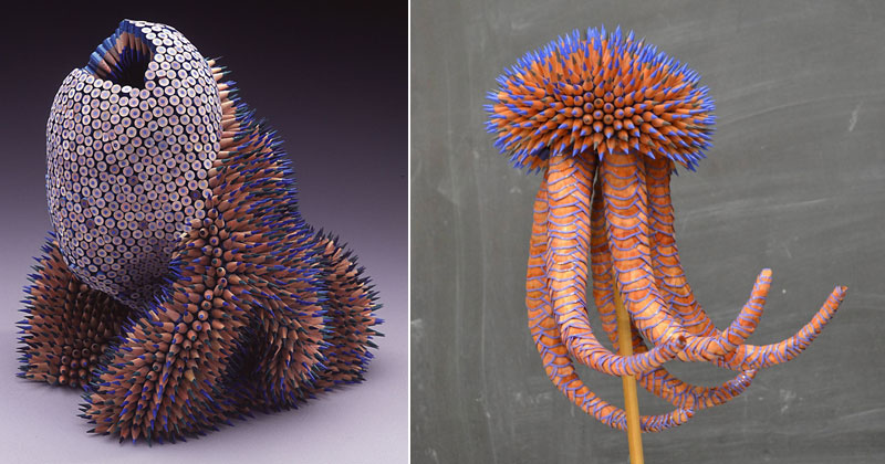 Jennifer Maestre Turns Ordinary Pencils Into Otherworldly Sculptures