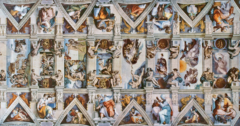 A Flattened View of the Incredible Sistine Chapel Ceiling