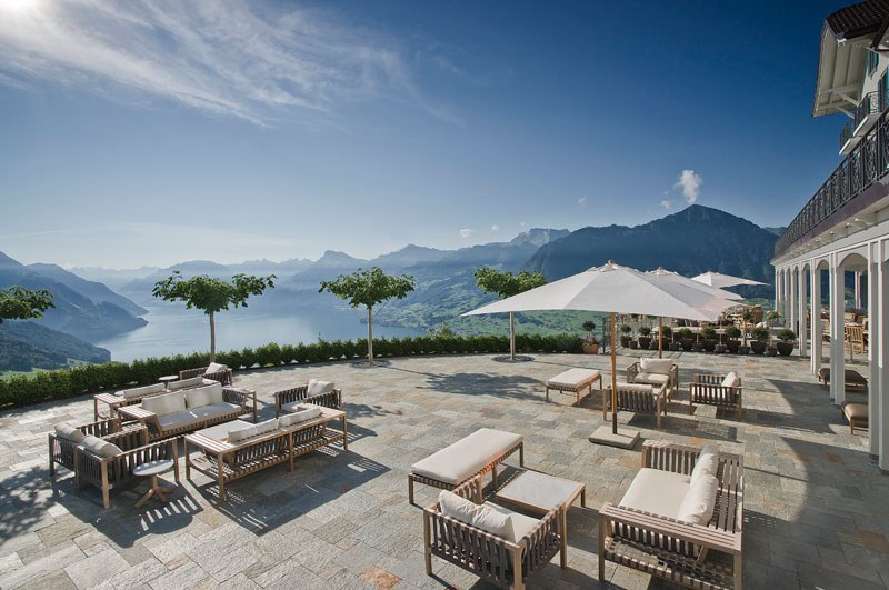 stairway to heaven infinity pool hotel villa honegg switzerland 12 People are Calling This Rooftop Infinity Pool in the Swiss Alps the Stairway to Heaven