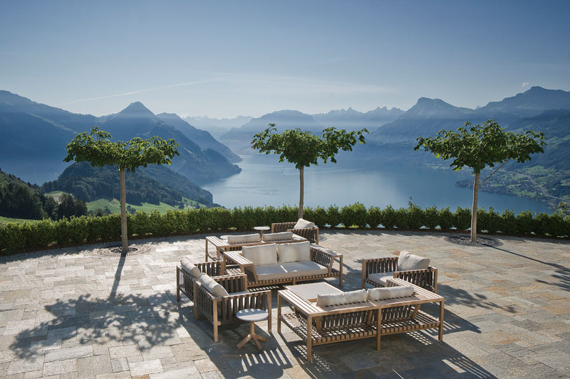 stairway to heaven infinity pool hotel villa honegg switzerland 13 People are Calling This Rooftop Infinity Pool in the Swiss Alps the Stairway to Heaven