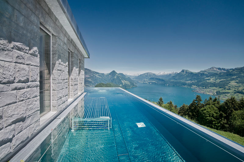 people are calling this rooftop infinity pool in the swiss alps the stairway to heaven. Black Bedroom Furniture Sets. Home Design Ideas