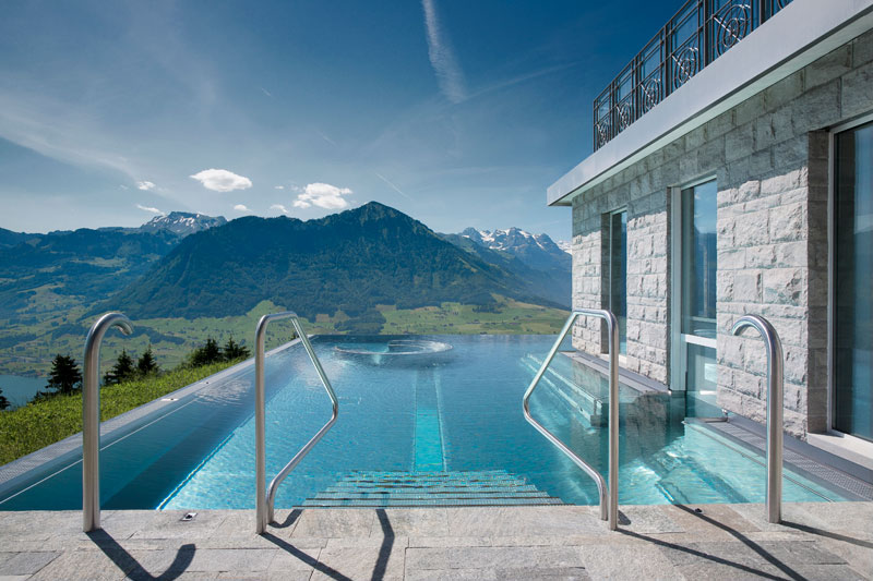 stairway to heaven infinity pool hotel villa honegg switzerland 6 People are Calling This Rooftop Infinity Pool in the Swiss Alps the Stairway to Heaven