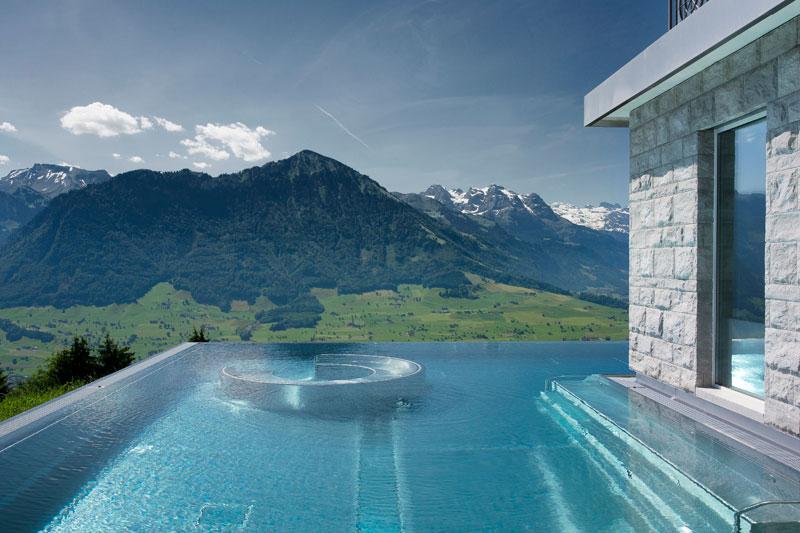 stairway to heaven infinity pool hotel villa honegg. Black Bedroom Furniture Sets. Home Design Ideas
