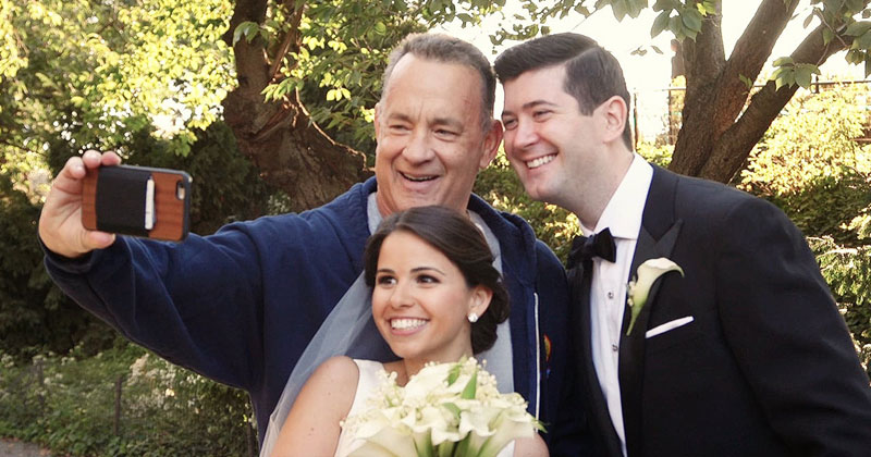 Tom Hanks Crashes Wedding Shoot in Central Park; Offers to be their Officiant