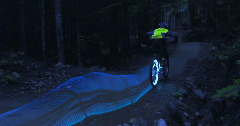 These Guys Turned Their Mountain Bikes Into Tron Light Cycles