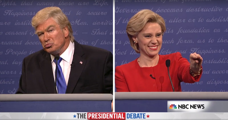 SNL Recreates the Trump-Clinton Debate
