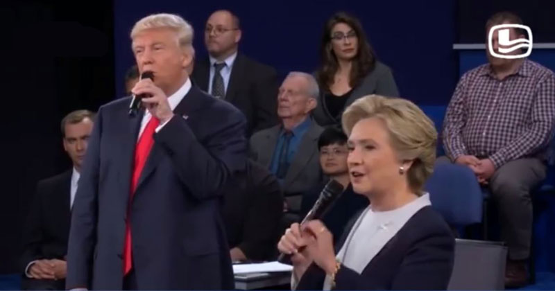 Somebody Dubbed the Dirty Dancing Theme Song to the Debate and It's Amazing