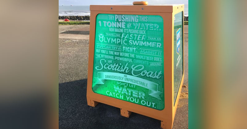 This Beach Found a Clever Way to Promote WaterSafety