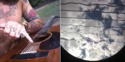 An Acoustic Rendition of Metallica's Nothing Else Matters from the Inside of aGuitar