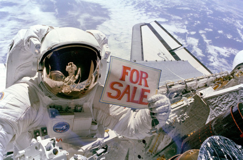 astronaut for sale sign nasa Picture of the Day: Planet For Sale