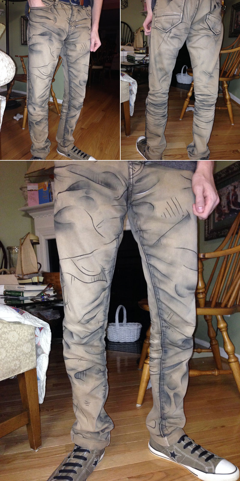 cel shaded pants by labinnak and mangoloo cosplay 1 These Shaded Pants Look Pretty Cool!