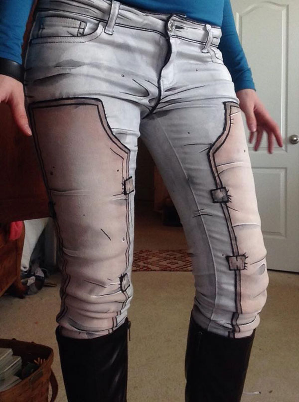 cel shaded pants by labinnak and mangoloo cosplay 2 These Shaded Pants Look Pretty Cool!
