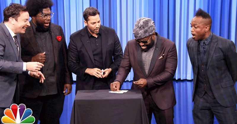 David Blaine Does a Few Card Tricks on Jimmy Fallon But Saves the Best for Last