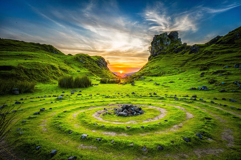 Picture of the Day: Sunset at Fairy Glen, Isle of Skye