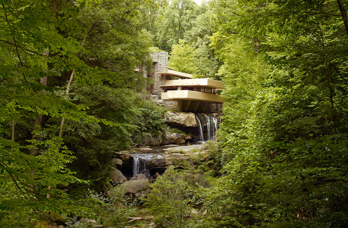 Fallingwater frank lloyd wright pennsylvania twistedsifter for Architecture organique