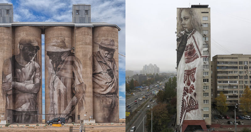Colossal Humans by Guido Van Helten (12 Artworks)
