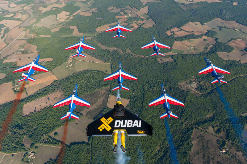 Three Jetmen Go For a Cruise with the French Acrobatic Patrol