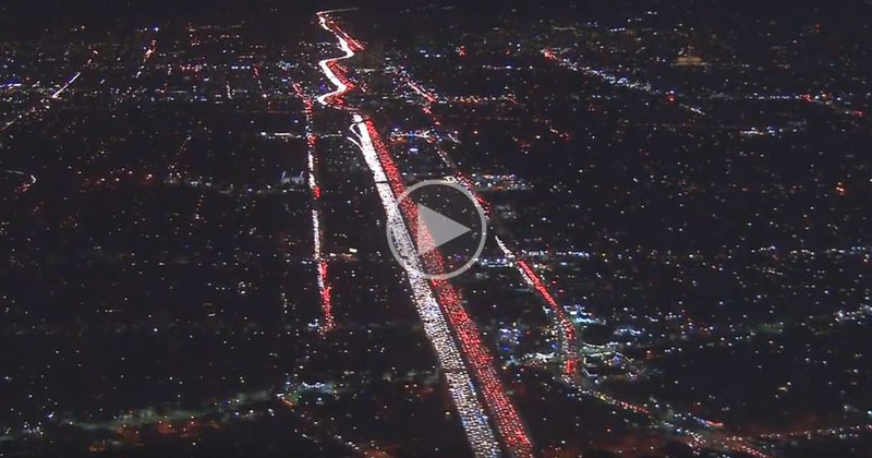 There Was a Huge Traffic Jam in LA This Week and It Looks Insane