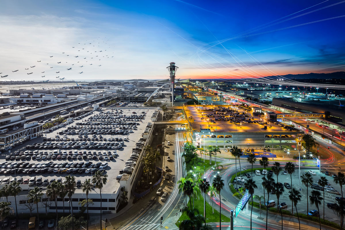 lax day night 1 These Composites of Planes Taking Off and Landing Show How Connected the World Is