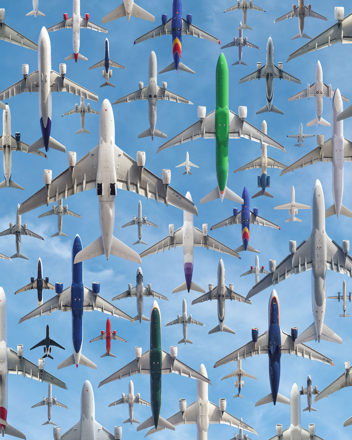 los angeles international 24l no turn before shoreline These Composites of Planes Taking Off and Landing Show How Connected the World Is