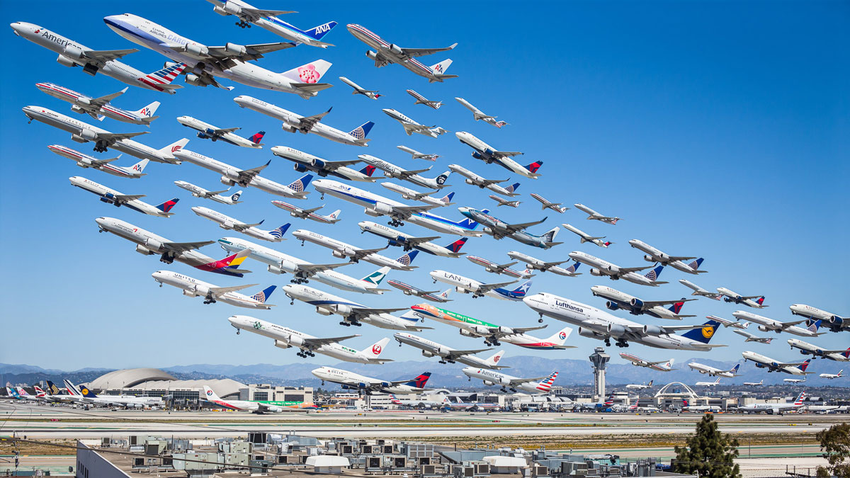 These Composites of Planes Taking Off and Landing Show How ...