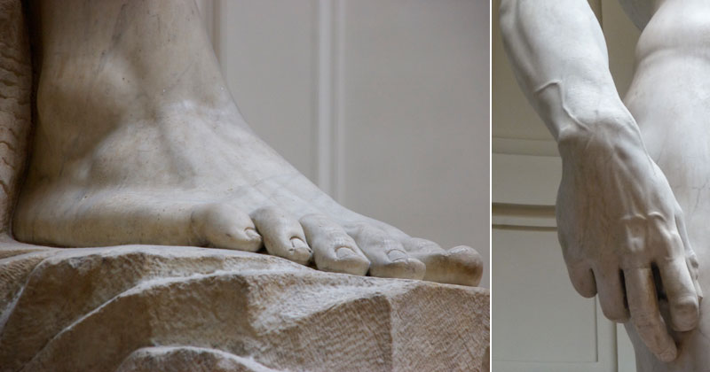 These Ultra Detailed Close-Ups Will Give You a Deeper Appreciation for Michelangelo's David