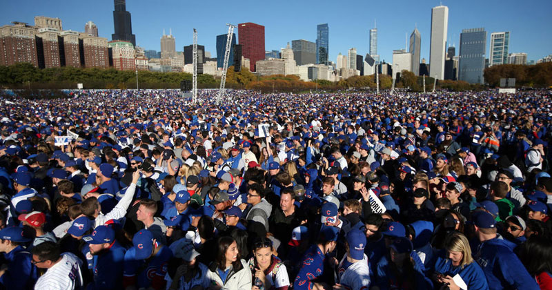 The Cubs Parade Was 7th Largest Gathering in Human History. Here's the Top10