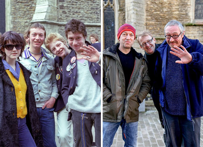reunions by chris porsz 12 Street Photographer Recreates Photos He Took in the 80s in Amazing Reunion Series