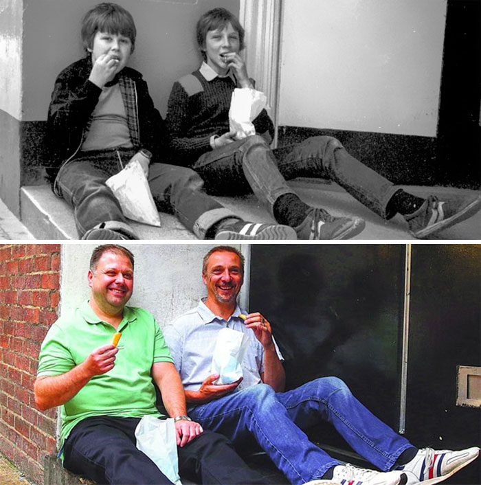 reunions by chris porsz 19 Street Photographer Recreates Photos He Took in the 80s in Amazing Reunion Series