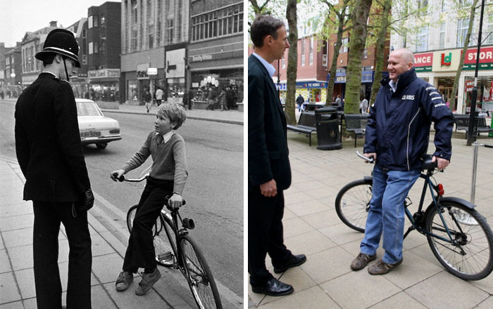 reunions by chris porsz 2 Street Photographer Recreates Photos He Took in the 80s in Amazing Reunion Series